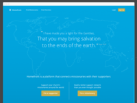 Homefront Homepage web app minimal landing page missionaries church