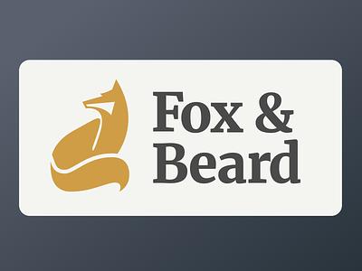 Fox And Beard icon brand logo fox