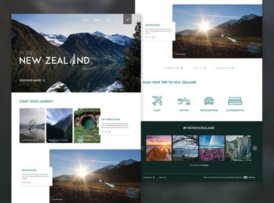 new zealand website mockup