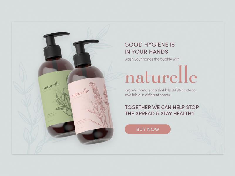 naturelle hand soap concept