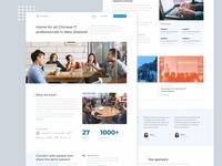 Landing page design for CITANZ