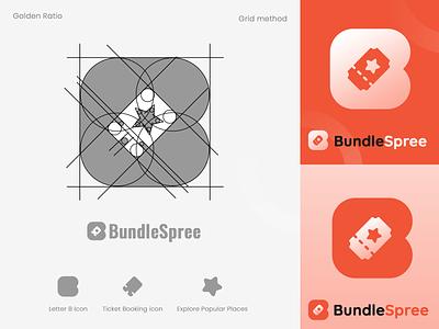 Logo Design - BundleSpree - Golden Ratio bundlespree logo design photoshop design logo golden ratio illustration