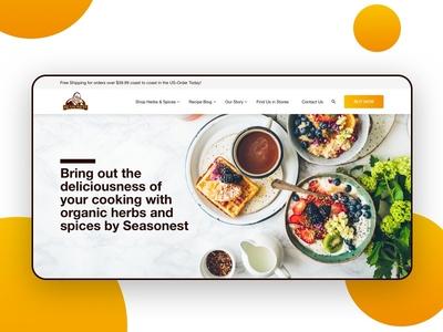 Seasonest Website Re-design website webdesign web userinteface userexperience uiux dribbble design behance appdesign