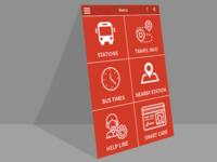 Metro App UI