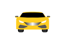 Yellow car vector