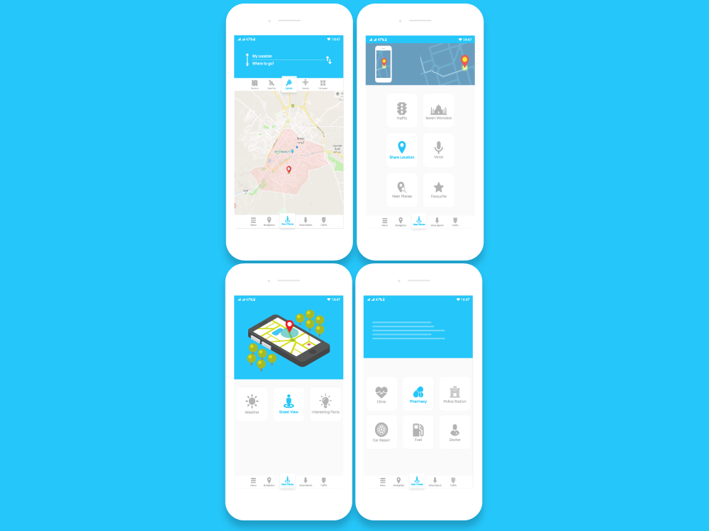 Gps Navigation App UI Design by Taimoor Abbasi on Dribbble