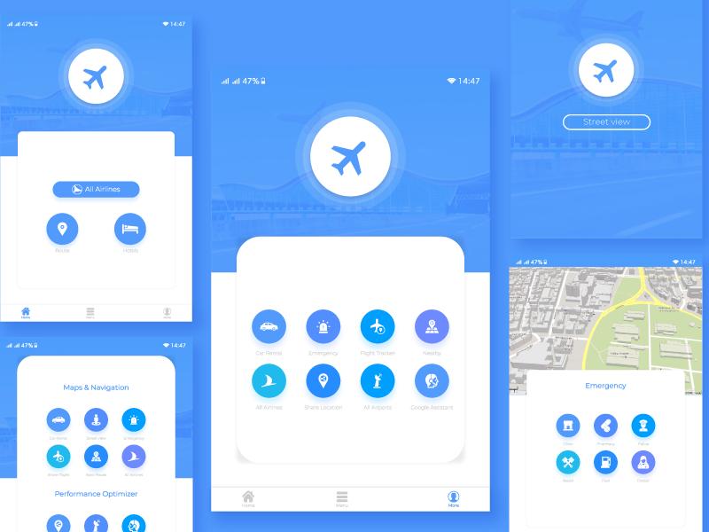Flight Tracker App UI Design minimal branding typography clean application design icons flat vector illustrator mobile ux uxdesign ui ui-ux design app ui desing interface illustration application design