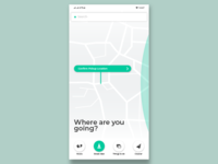 maps & navigation app home screen UI design