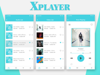 Music player app UI design