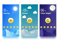 Weather screen UI design