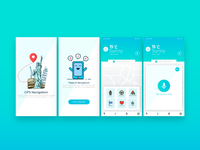 Gps Navigation App UI design
