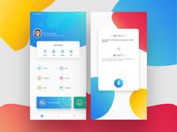 UI UX design app concept