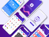 Voice search app ui design