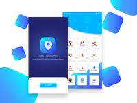Maps & Navigation app UI design