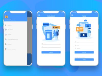Android app UI UX design