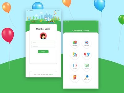 UI UX app concept design