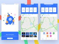 Navigation Map App UI Design