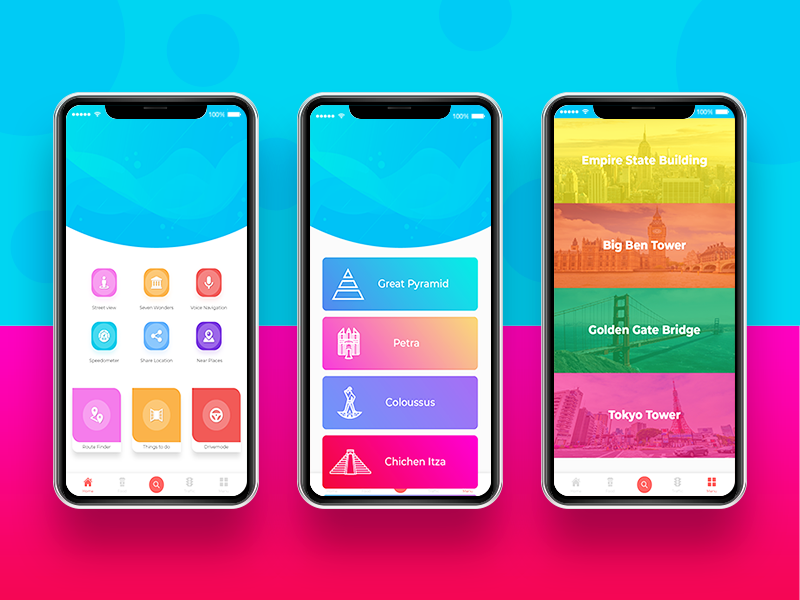 Navigation App UI/UX Design header uplabs behance webdesign level uiux dribbble mockups graphics design app navigation