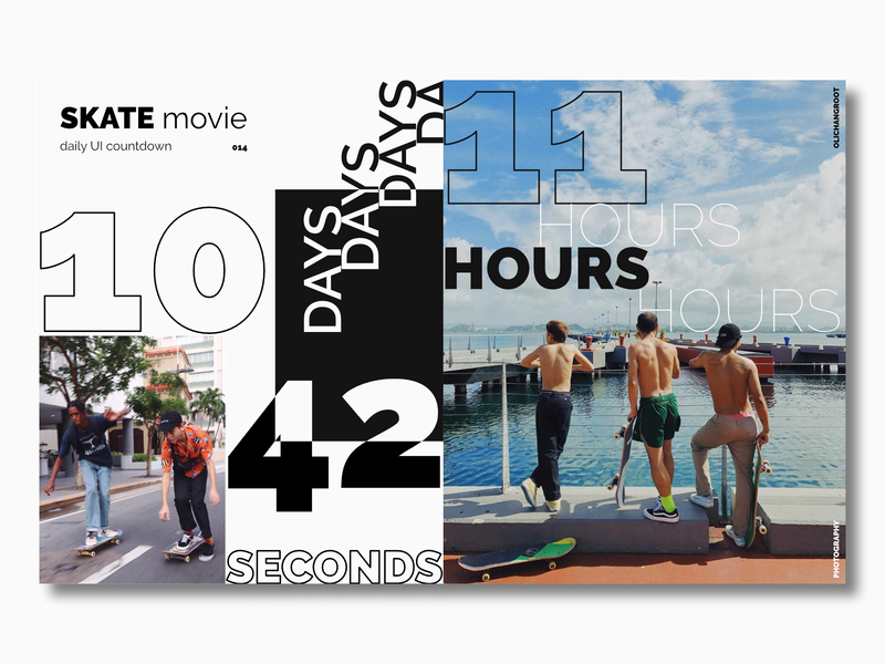 Countdown Timer / Daily UI 014 movie countdown skateboarding skate photography olichangroot leodrez app concept app dailyui website web ux ui minimal flat design timer countdown timer countdowntimer