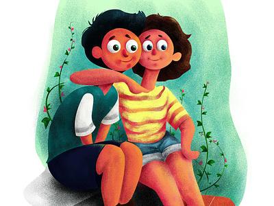 S h e &  H e cute illustration storytelling lovestory love characterdesign illustration