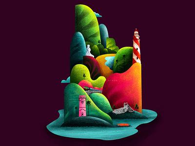 K O L L A M shapes colors district kerala branding design adobe illustration