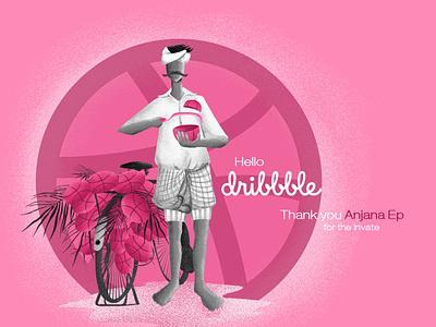 hello dribbble! typography sketch drawing keralamahn kerala design illustraion love thanksgiving day thanks prospect draft debutshot first drbbble