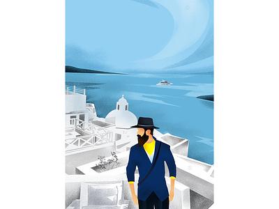 the men forms architechture home hill sky boat sea pho adobe adobeillustator illustrator cc shapes vector illustraiton