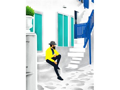The Man forign window space fashion app model niose adobephotoshop adobeillustator adobe vector illustration