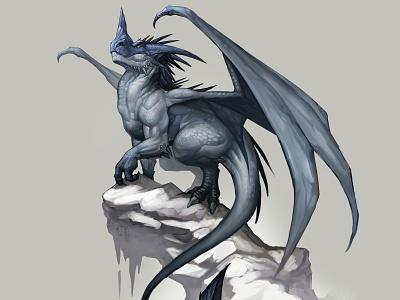 Arctic dragon colorful art dragon paint fantasyart fantasy creature character design photoshop design illustration