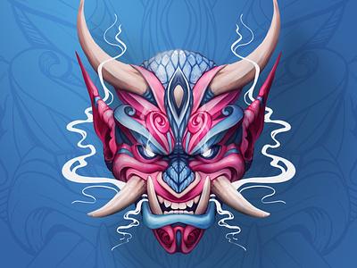 Oni dragon fantasy paint fantasyart colorful art photoshop character design illustration