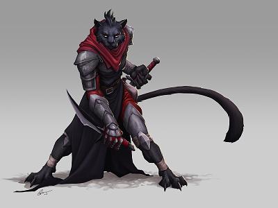 Tabaxi rogue creature design character character design illustration