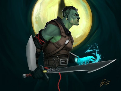 Fjord - Critical role colorful art photoshop design character character design illustration