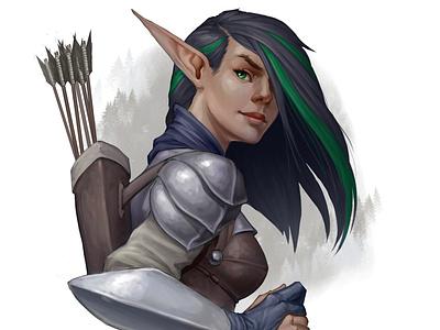 Arwin colorful art paint hair fantasyart fantasy photoshop character design illustration character design