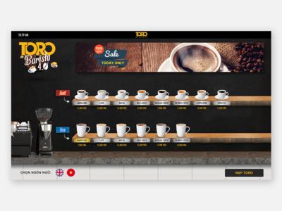 Automatic coffee vending machine (UI Design)
