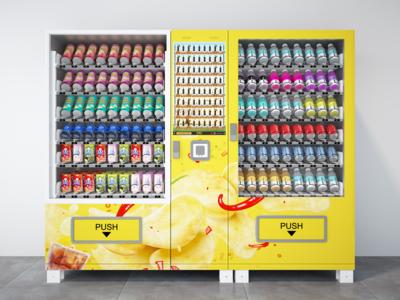 Mockup Vending Machine Interface   Autumn Version