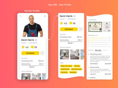 #DailyUI 006 - User Profile