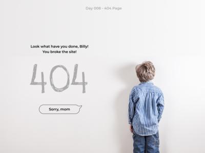 #DailyUI 008 - 404 Page