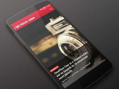 [WIP] Tech in Asia ui apps android mobile interface kitkat
