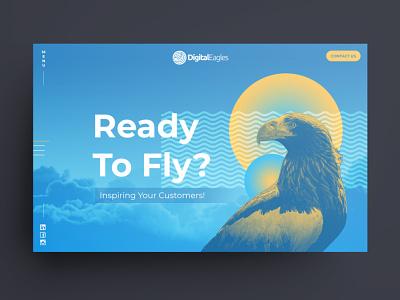 Home Page Concepts for Digital Eagles colourful responsive design photoshop web design digital art australia melbourne freelancer krystlesvetlana