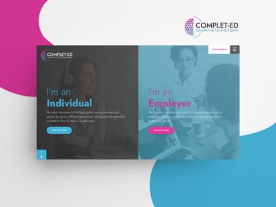 Complet-ed Web Design wordpress responsive design australia melbourne freelancer krystlesvetlana colorful webdesign logodesign