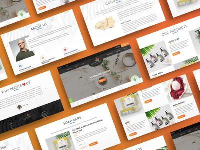 Scentric Web Design responsive design australia melbourne freelancer krystlesvetlana colorful art online store commerce webdesign