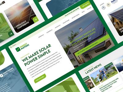Energy Matters Home page concept australia responsive design colourful webdesign melbourne freelancer krystlesvetlana