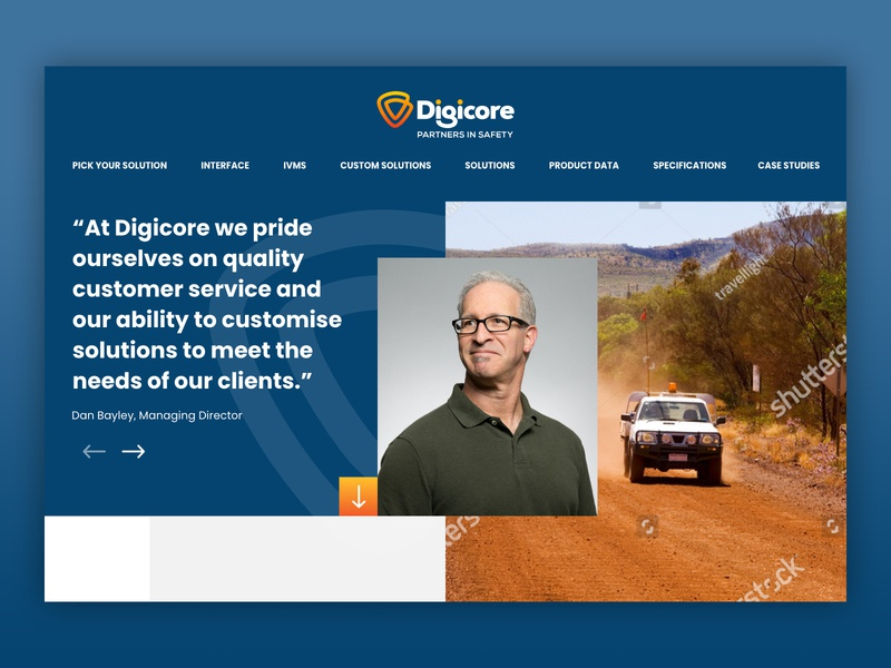 Digicore Home Page concept australia melbourne freelancer krystlesvetlana colourful web design