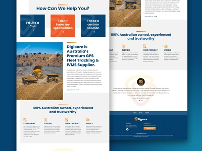 Digicore Home Page concept australia melbourne freelancer krystlesvetlana colourful web design