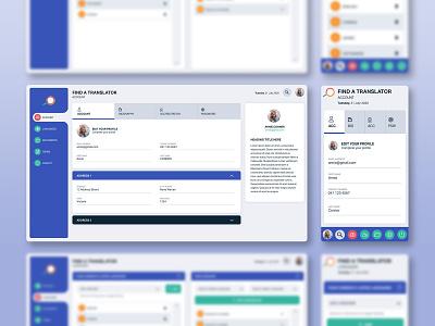 Interface Design for Find a Translator australia melbourne freelancer krystlesvetlana ux  ui interface design