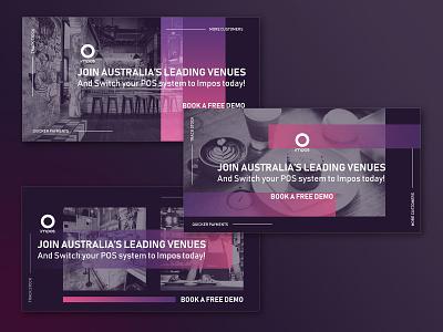 Social Media Creatives for Impos australia melbourne freelancer krystlesvetlana colourful facebook instagram social media design