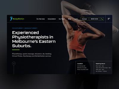 Website Design for BodyMotion australia melbourne freelancer krystlesvetlana physiotherapy website concept digital design website design
