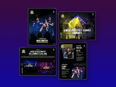 Urbain Praise Website melbourne australia freelancer krystlesvetlana web design webflow music website church website
