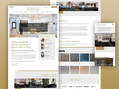 Web Design for GC Smith & Co australia melbourne krystlesvetlana modern layout web design