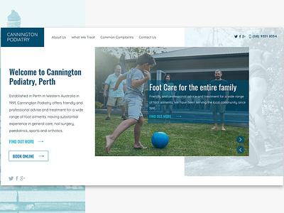 Web Design for Cannington Podiatry australia melbourne freelancer krystlesvetlana modern design web design